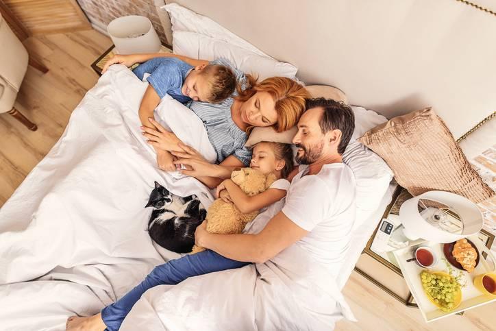 somn cu copiii