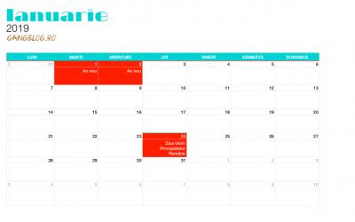 Pregătiri pentru 2019 – Și un calendar pe care îl puteți descărca