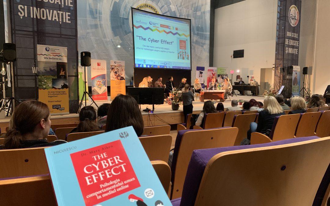 Cum a fost la conferința despre Efectul Cibernetic cu Dr. Mary Aiken